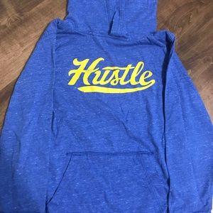 Old Navy boy's hooded long sleeve tee - 'Hustle'